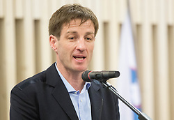 Iztok Cop, vice-president of OKS during presentation of Slovenian Young Athletes before departure to EYOF (European Youth Olympic Festival) in Vorarlberg and Liechtenstein, on January 21, 2015 in Bled, Slovenia. Photo by Vid Ponikvar / Sportida