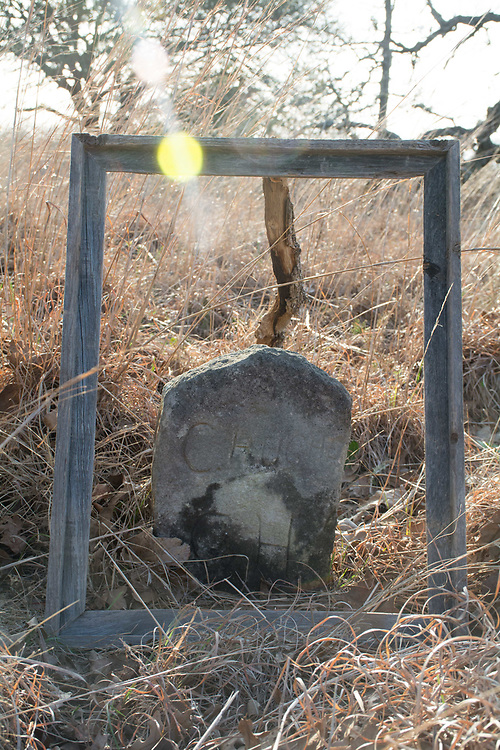 """This is the grave of my 4th great Grandfather Charles """"Charlie"""" Hughes. His original name was Houston when his family came from Tennessee. It was changed to Hughes when he became a cook for the Hughes family in Colorado County, Texas."""