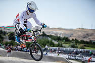 Men Elite #49 (NYHAUG Tory) CAN the 2018 UCI BMX World Championships in Baku, Azerbaijan.