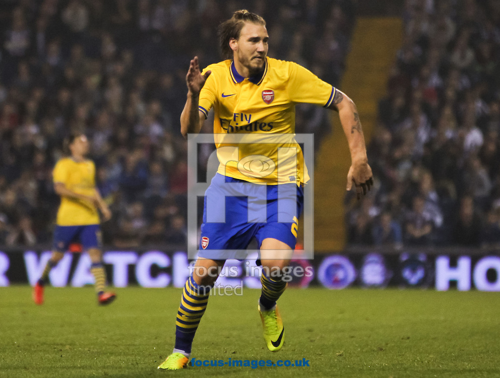 Picture by Tom Smith/Focus Images Ltd 07545141164<br /> 25/09/2013<br /> Nicklas Bendtner of Arsenal during the Capital One Cup match at The Hawthorns, West Bromwich.
