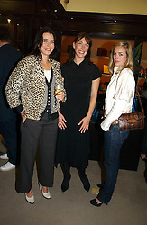 Left to right, sisters EMILY MULLION, SAMANTHA CAMERON and ALICE SHEFFIELD at a party to celebrate the 10th anniversary of the Smythson Fashion Diary and to the launch of the 2007 Limited Edition held at Smythson, New Bond Street, London on 25th October 2006.<br />
