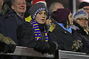 Solihull Moors fan during the The FA Cup match between Solihull Moors and Rotherham United at the Automated Technology Group Stadium, Solihull, United Kingdom on 2 December 2019.
