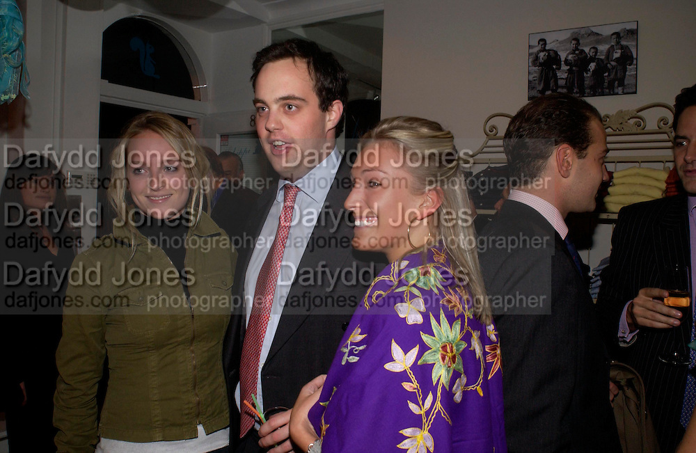 Olivia Buckingham, Lord Buckhurst and Natalie Burgin, Chippi Hacki launch party.New children's clothes shop by Lady Emily Compton. 8 Motcomb St. London SW1. ONE TIME USE ONLY - DO NOT ARCHIVE  © Copyright Photograph by Dafydd Jones 66 Stockwell Park Rd. London SW9 0DA Tel 020 7733 0108 www.dafjones.com
