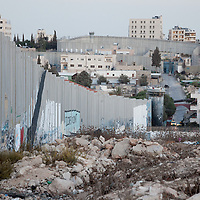 The West Bank barrier, also called the security fence by Israel and the wall of apartheid by Palestinians, seen here in Bethlehem, the West Bank.