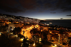 PORTUGAL MADEIRA FUNCHAL 17OCT14 - View of Funchal, the capital of Madeira before sunrise.<br /> <br /> jre/Photo by Jiri Rezac<br /> <br /> © Jiri Rezac 2014