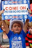 A young Peterborough United fan before the Johnstone's Paint Trophy Final match at Wembley Stadium, London<br /> Picture by David Horn/Focus Images Ltd +44 7545 970036<br /> 30/03/2014