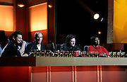 Celebrity Choir directors Nick Lachey, Michael Bolton, Blake Shelton and Patti LaBelle sit on judging panel during the NBC 'Clash Of The Choirs' full show rehearsal at Steiner Studios in Brooklyn, New York City, USA on December 16, 2007.