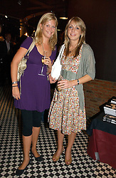 Left to right, CLARE BONSOR and CAMILLA STOPFORD-SACKVILLE at the opening party of the new Frankie's Bar & Grill at Selfridges, Oxford Street, London on 6th September 2006.<br /><br />NON EXCLUSIVE - WORLD RIGHTS