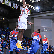 Grand Rapids Drive Guard Kelsey Barlow (15) dunks the ball in the second half of a NBA D-league regular season basketball game between the Delaware 87ers and the Grand Rapids Drive (Detroit Pistons) Saturday, Apr. 04, 2015 at The Bob Carpenter Sports Convocation Center in Newark, DEL.