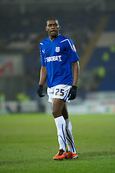 CARDIFF, WALES - Tuesday, February 1, 2011: Cardiff City's Jay Emmanuel-Thomas during the Football League Championship match at the Cardiff City Stadium. (Photo by Gareth Davies/Propaganda)