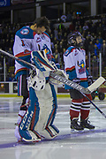 KELOWNA, CANADA - FEBRUARY 12:  Pepsi Player o the game with James Porter #1 of the Kelowna Rockets at the Kelowna Rockets game on February 12, 2018 at Prospera Place in Kelowna, British Columbia, Canada.  (Photo By Cindy Rogers/Nyasa Photography,  *** Local Caption ***