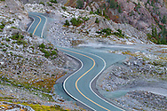 The Mount Baker Highway (SR 542) near Artist Point in the Mount Baker-Snoqualmie National Forest, Washington State, USA