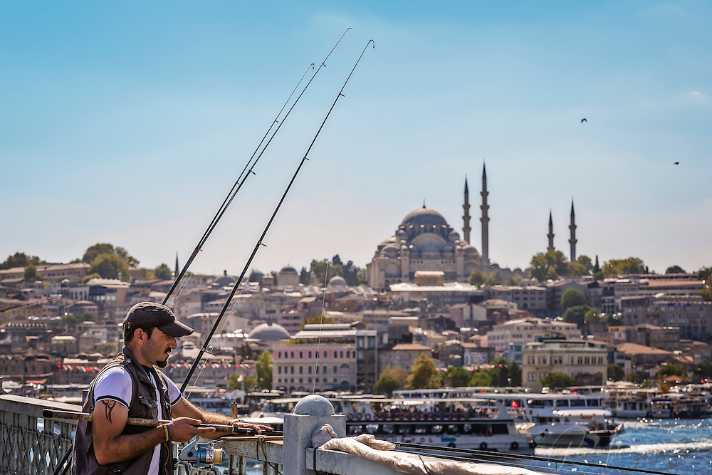 Fisherman at the Galata Bridge