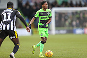 Forest Green Rovers Reece Brown(10) on the ball during the EFL Sky Bet League 2 match between Forest Green Rovers and Notts County at the New Lawn, Forest Green, United Kingdom on 9 February 2019.