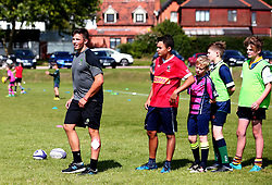 Will Butler of Worcester Warriors leads a coaching session as Worcester Warriors host a summer holiday rugby camp at Malvern College - Mandatory by-line: Robbie Stephenson/JMP - 16/08/2017 - RUGBY - Malvern College - Worcester, England - Worcester Warriors - Malvern Rugby Camp