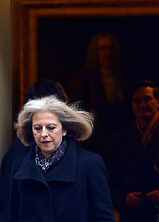 © Licensed to London News Pictures. 05/12/2012. Westminster, UK  Home Secretary Theresa May on Downing Street today, 5th December 2012, prior to the Autumn Statement to the House of Commons on the UK economy. Photo credit : Stephen Simpson/LNP