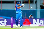 India ODI Captain & batsman Virat Kohli hits England ODI all rounder Ben Stokes for a boundary during the 3rd Royal London ODI match between England and India at Headingley Stadium, Headingley, United Kingdom on 17 July 2018. Picture by Simon Davies.