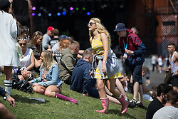 © Licensed to London News Pictures .06/06/2015. Manchester , UK.  Festival goers in the sunshine at The Parklife 2015 music festival in Heaton Park , Manchester . Photo credit : Joel Goodman/LNP