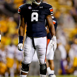 Sep 21, 2013; Baton Rouge, LA, USA; Auburn Tigers linebacker Cassanova McKinzy (8) against the LSU Tigers during the second half of a game at Tiger Stadium. LSU defeated Auburn 35-21. Mandatory Credit: Derick E. Hingle-USA TODAY Sports