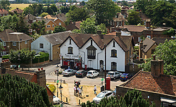 © London News pictures...  01/07/2015. Harmondsworth, UK. General view of The village of Harmondsworth in West London. Harmondsworth is due to be demolished to make way for a third runway at Heathrow Airport if plans go ahead. The airports commission today (Weds) gave it's backing for the £18.6bn plan for a third runway at Heathrow. Photo credit: Ben Cawthra/LNP