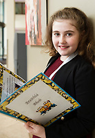 Scriobh Leabhair, Galway Education Centre's booking writing competition for National School pupils At the Radisson Blu saw hundreds of Children awarded for their Writing Skill.<br /> At the event was Keelin Ni Bhrollchain Gael Scoil de hIde<br />  . Photo:Andrew Downes, xposure