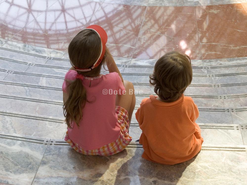 two children sitting