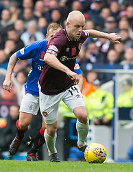 Hearts' Steven Naismith during the Ladbrokes Scottish Premiership match at Ibrox Stadium, Glasgow.