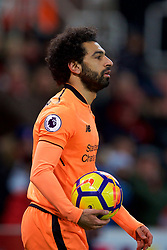 STOKE-ON-TRENT, ENGLAND - Wednesday, November 29, 2017: Liverpool's Mohamed Salah during the FA Premier League match between Stoke City and Liverpool at the  Bet365 Stadium. (Pic by David Rawcliffe/Propaganda)