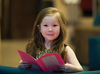 Each year over 6,000 primary school children in County Galway write and submit books in English and Irish. The winning entries are recognised in a major Awards&rsquo; Ceremony attended by an average of 1,500 attendees each year held in the Galmont Hotel.<br /> At the celebration was Vivieene McInerney from Labane Photo:Andrew Downes, XPOSURE .