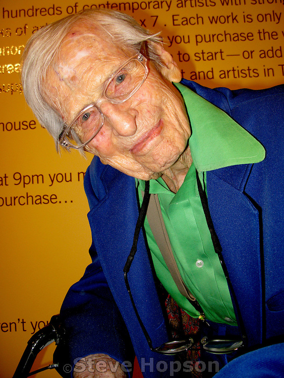 Kelly Fearing at the opening of the 5x7 art exhibit at the Arthouse at the Jones Center in Austin Texas, May 17 2008.  Kelly Fearing has been an important artist working in Texas since the 1940s. After doing his graduate work at Columbia University in New York City, Fearing established himself as a surrealist painter and printmaker in Fort Worth, and then became one of the founding members of the art faculty at the University of Texas at Austin. He has had recent exhibitions at the Valley House Gallery in Dallas, Texas, and at the Archer M. Huntington Art Gallery in Austin, Texas. Fearing is now a Professor Emeritus at UT Austin and lives in Austin Texas.