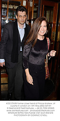 KOO STARK former close friend of Prince Andrew, at a party in London on 13th May 2002.	OZY 81