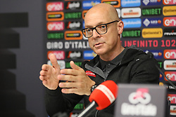Foto Filippo Rubin/LaPresse <br /> 09 maggio 2019 Bologna (Italia)<br /> Sport Ciclismo<br /> Giro d'Italia 2019 - edizione 102 - Conferenza Stampa Team.<br /> Nella foto: Team Ineos.Dave Brailsford Team Manager<br /> <br /> Photo Filippo Rubin/LaPresse<br /> May 09, 2019  Bologna (Italy)  <br /> Sport Cycling<br /> Giro d'Italia 2019 - 102th edition - Team Press Conference .<br /> In the pic: Team Ineos.Dave Brailsford Team Manager
