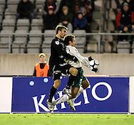 17.10.2010, Stadion, Lahti..Veikkausliiga 2010, FC Lahti - IFK Mariehamn..Jarkko V?rtt? (FC Lahti) v Tamas Gruborovics (IFK Mhamn)..©Juha Tamminen.