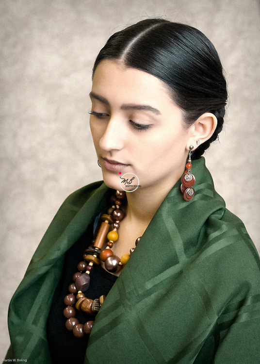 1930s Mexican Frida Kahlo Style. <br /> Hair &amp; Makeup by Robin Sullivan.