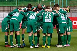 Team of Olimpija at football match of 31st Round of 1st Slovenian League  between NK Olimpija and NK Maribor, on April 16, 2010, in ZAK Stadium, Ljubljana, Slovenia. (Photo by Vid Ponikvar / Sportida)