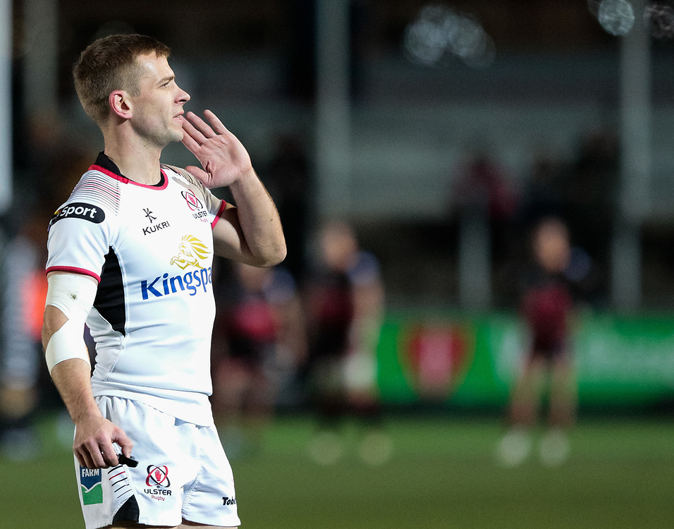 Ulster Rugby's Paul Marshall<br /> <br /> Photographer Simon King/Replay Images<br /> <br /> Guinness Pro14 Round 10 - Dragons v Ulster - Friday 1st December 2017 - Rodney Parade - Newport<br /> <br /> World Copyright © 2017 Replay Images. All rights reserved. info@replayimages.co.uk - www.replayimages.co.uk