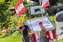 06.07.2017, Kitzbühel, AUT, Ö-Tour, Österreich Radrundfahrt 2017, 4. Etappe von Salzburg - Kitzbüheler Horn (82,7 km/BAK), im Bild Fans, Tyrol Cycling // Fans, Tyrol Cycling during the 4th stage from Salzburg - Kitzbueheler Horn (82,7 km/BAK) of 2017 Tour of Austria. Kitzbühel, Austria on 2017/07/06. EXPA Pictures © 2017, PhotoCredit: EXPA/ JFK