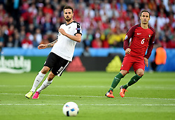 Martin Harnik of Austria in watched closely by Ricardo Carvalho of Portugal  - Mandatory by-line: Joe Meredith/JMP - 18/06/2016 - FOOTBALL - Parc des Princes - Paris, France - Portugal v Austria - UEFA European Championship Group F
