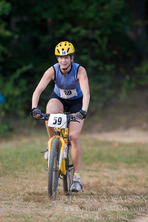 CHARLOTTESVILLE, VA - August 17, 2008 - KATE GYPSON (59) in the 2008 Charlottesville XTERRA Triathlon was held at Walnut Creek Park in Albemarle County near Charlottesville, Virginia, USA.