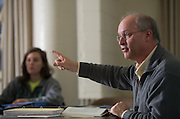 Patton College of Education Instructor Frans Doppen leads a class.