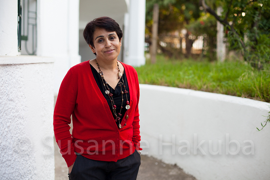 Ahlem Belhadj. Founding member and president of ATFD (l'Association Tunisienne des Femmes D&eacute;mocrates; founded in 1989), the first independent women's organisation with a clearly activist agenda in Tunisia.<br />