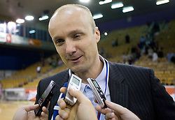 Coach of Union Olimpija Jure Zdovc at third finals basketball match of Slovenian Men UPC League between KK Union Olimpija and KK Helios Domzale, on June 2, 2009, in Arena Tivoli, Ljubljana, Slovenia. Union Olimpija won 69:58 and became Slovenian National Champion for the season 2008/2009. (Photo by Vid Ponikvar / Sportida)