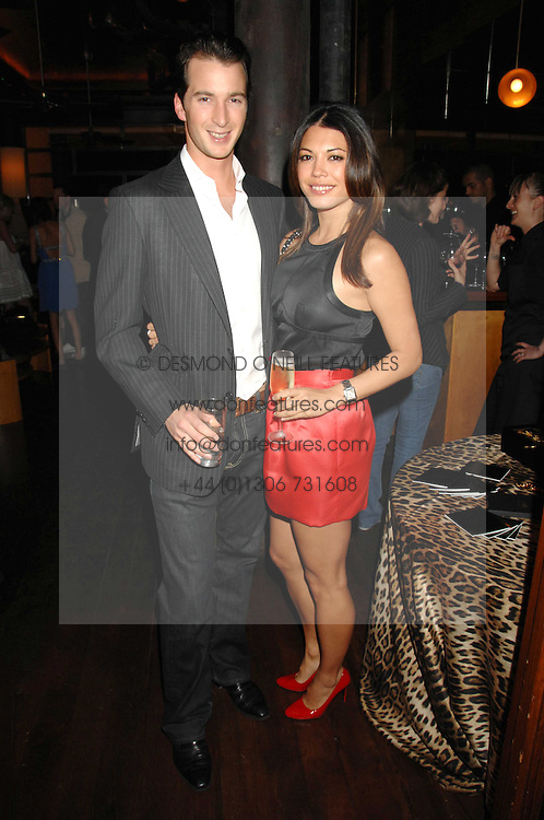 The HON.WILL ASTOR and LOHRALEE STUTZ  at a party to celebrate the launch of Cavalli Selection - the first ever wine from Casa Cavalli, held at 17 Berkeley Street, London W1 on 29th May 2008.<br /><br />NON EXCLUSIVE - WORLD RIGHTS