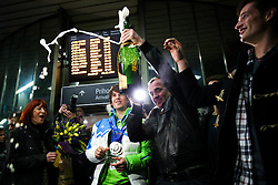 Zan Kosir at reception of Slovenia team arrived from Winter Olympic Games Sochi 2014 on February 24, 2014 at Airport Joze Pucnik, Brnik, Slovenia. Photo by Vid Ponikvar / Sportida