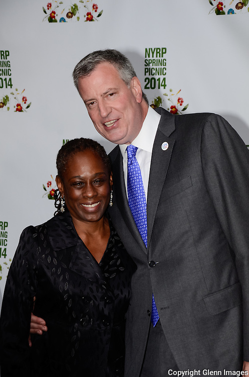 05/29/14 New York City ,  / Chirlane McCray, Mayor Bill DeBlasio at Bette Midler's NYRP 13th Annual Spring Picnic /