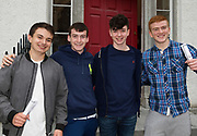 16/08/2017 Marcus Murphy Glencorrib, 590, (medicine), Mark Powell Taylor's Hill, 485, Evan O'Flaherty 613 (Business) and Michael O'Dowd from Oranmore who got 543 and hopes to do medicine in NUI,Galway.  Photo:Andrew Downes, xposure .