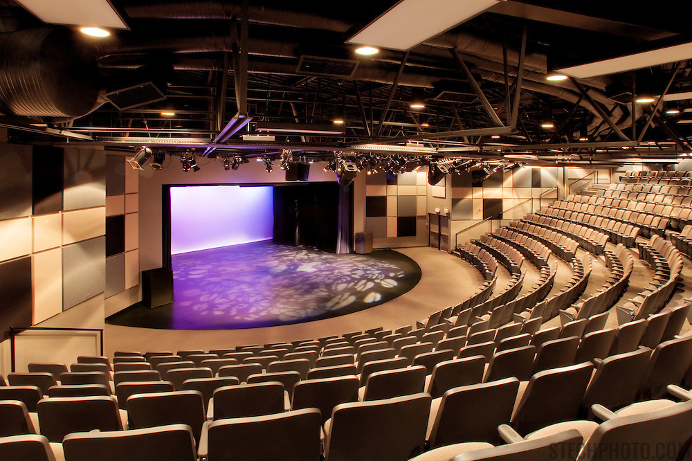 The theatre of the McLab Centre for the Performing Arts in Leduc, Alberta, Canada.