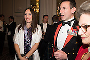 ANNE WOODS; ALEX FREEBORN,, The Royal Caledonian Ball 2016. Grosvenor House. Park Lane, London. 29 April 2016