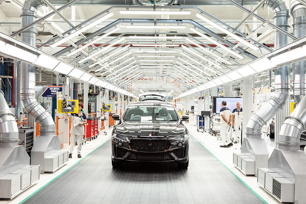 TORINO, Mirafiori, Produzione Maserati Levanto, the production chain of Maserati Levante