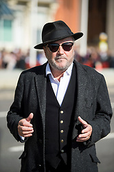 © Licensed to London News Pictures. 28/09/2015. Brighton, UK. Politician GEORGE GALLOWAY at Day two of the 2015 Labour Party Conference, held at the Brighton Centre in Brighton, East Sussex. This years conference takes place just weeks after Jeremy Corbyn was elected leader of the party. Photo credit: Ben Cawthra/LNP
